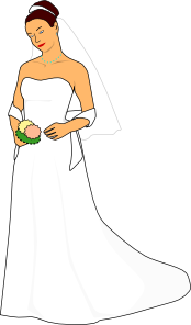 Bride White Dress Clip Art