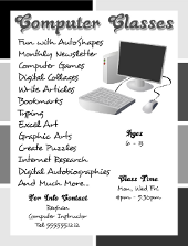 Corel Draw Computer Classes Flyer