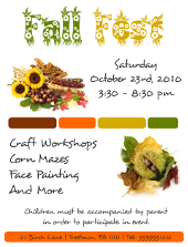Corel Draw Fall Fest Flyer