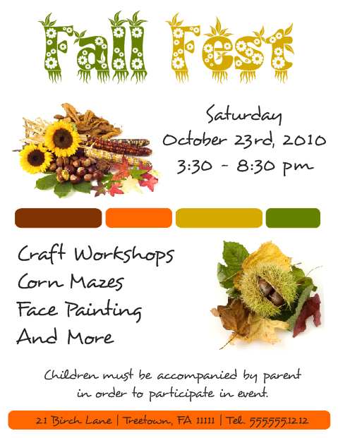 Corel Draw 12 Fall Fest Flyer