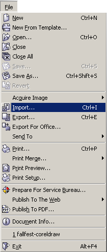 Corel Draw File Import
