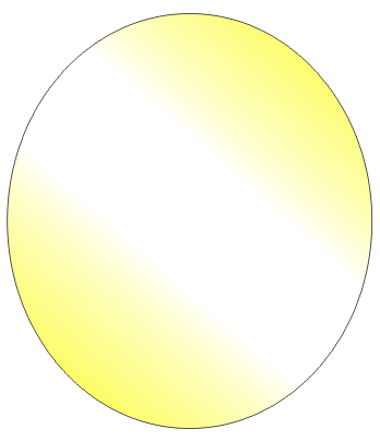 Corel Draw Gradient Filled Oval