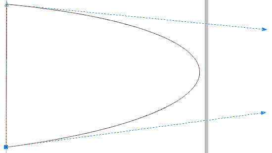 Corel Draw X6 Shape with Adjusted Control Handles