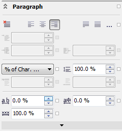 Corel Draw X6 Text Properties Paragraph Align Right