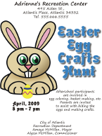 Corel Draw 12 Easter Egg Hunt Flyer