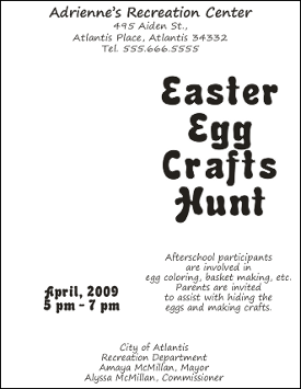 Corel Draw 12 Easter Flyer with Text