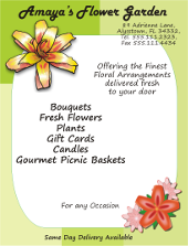 Corel Draw Florist Flyer