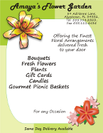 Corel Draw 12 Florist Flyer