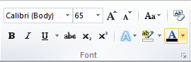 Microsoft Word Font Color Icon Font Group