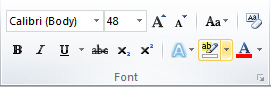 Microsoft Word Font Group Text Highlighting Color Icon
