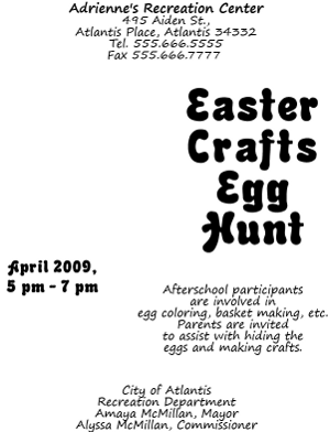 Adobe Illustrator Easter Flyer with Text