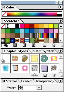 Adobe Illustrator Docked Color Palette