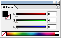 Adobe Illustrator RGB Color Window