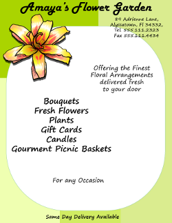 Florist Flyer Text and Image