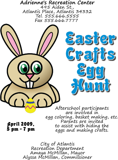 Adobe Illustrator Easter Egg Hunt Flyer