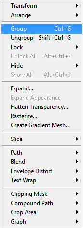 Adobe Illustrator Group Objects