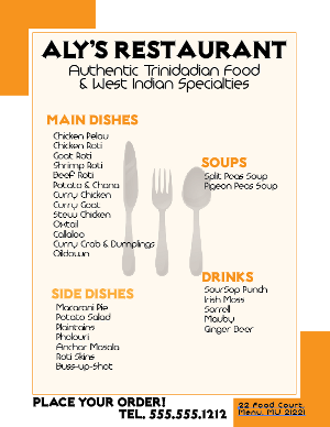 Restaurant Flyer created with Adobe Illustrator