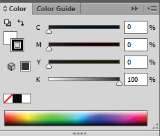 Adobe Illustrator CS6 Color Tab CMYK
