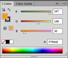 Adobe Illustrator CS6 Color Tab RGB