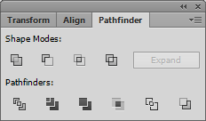Adobe Illustrator CS6 Pathfinder Window