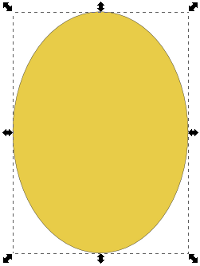 Inkscape Gold Oval