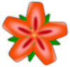 Clker Red Flower Clip Art