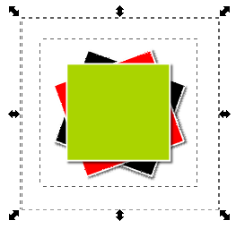 Inkscape 3 Ungrouped Rectangles