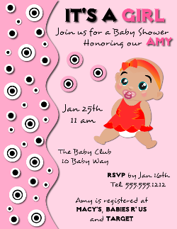 Delightful Baby Shower Invitation Flyer Template For A Girl