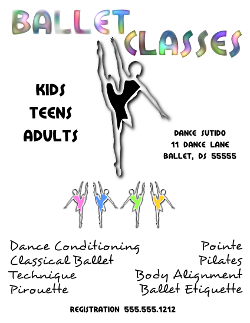 Ballet Dance Classes Flyer Template