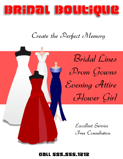 Bridal Boutique Flyer Template