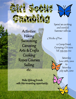 Camping Flyer Template