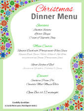 Christmas Dinner Menu Flyer Template| FlyerTutor.com