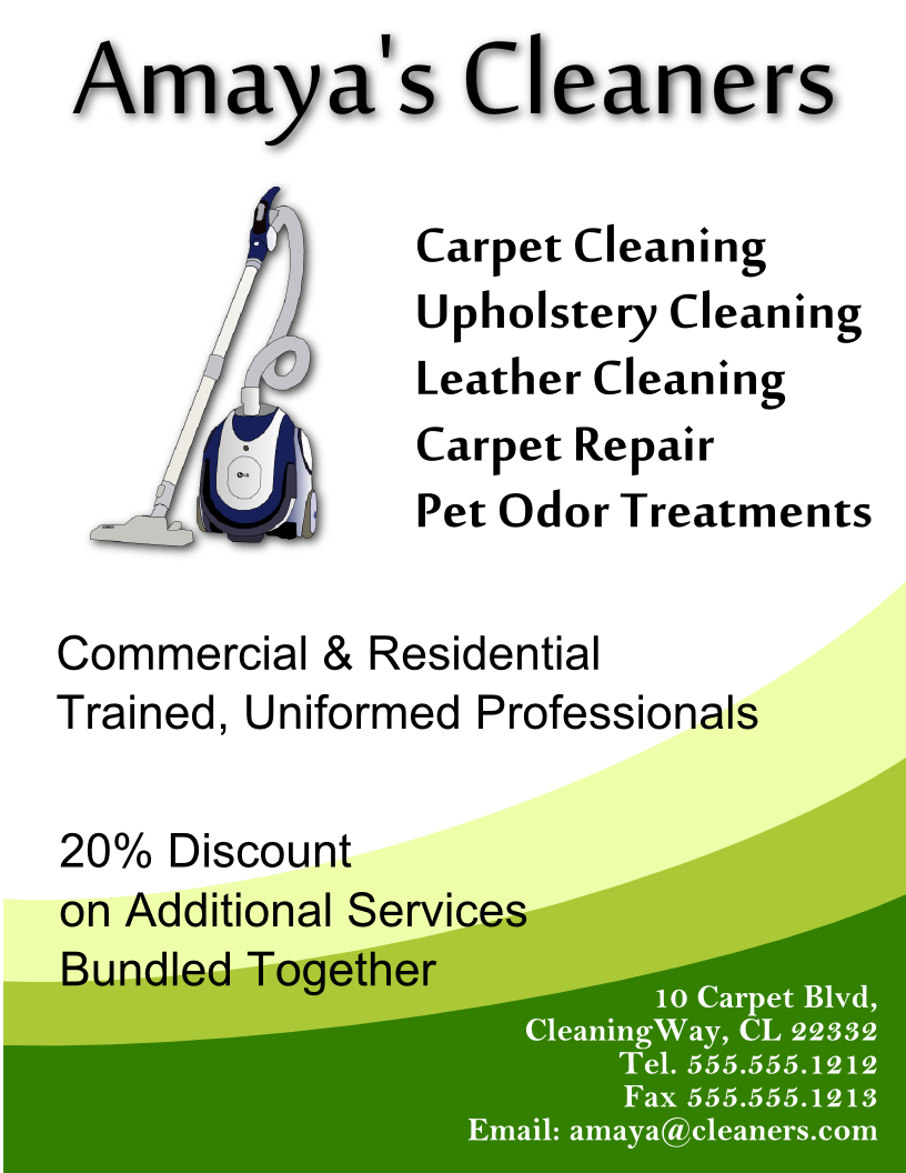 cleaning flyer template free  view larger image