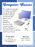 Computer Classes Flyer Tutorials