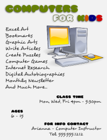 Computer Classes Flyer Template