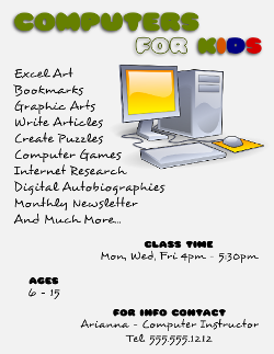 Computer Classes Flyer Template 2