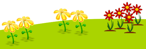Inkscape Duplicated Red & Yellow Flowers