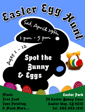 Easter Egg Hunt Flyer Template 2 | FlyerTutor.com