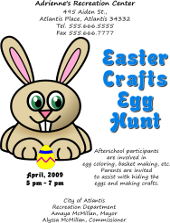 Inkscape Easter Egg Hunt Flyer