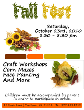 Inkscape Fall Fest Flyer