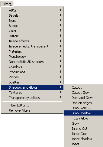 Inkscape Filters Menu - Shadows and Glows - Drop Shadow
