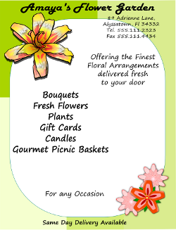 Inkscape Florist Flyer