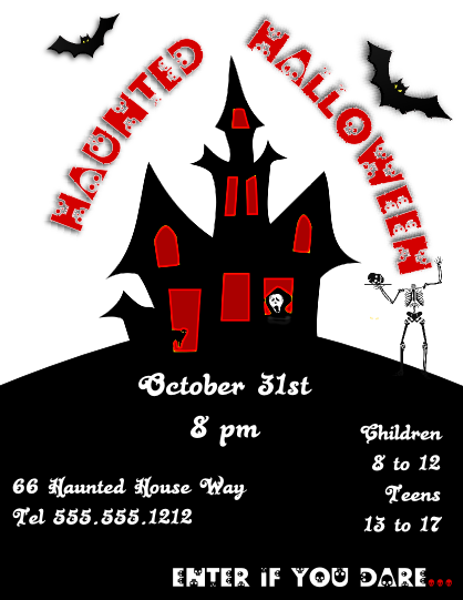 Haunted Halloween Flyer Template