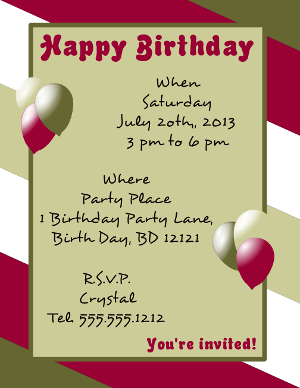 Happy Birthday Flyer Template for Microsoft Word, Microsoft