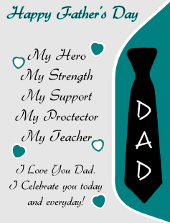 Happy Father's Day Flyer Template | FlyerTutor.com