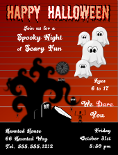 Happy Halloween Flyer Template | FlyerTutor.com