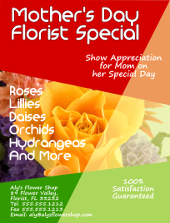 Mother's Day Florist Special Flyer Template | FlyerTutor.com