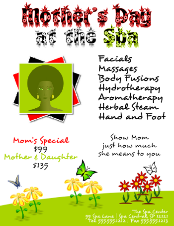 Inkscape Mother's Day Spa Flyer