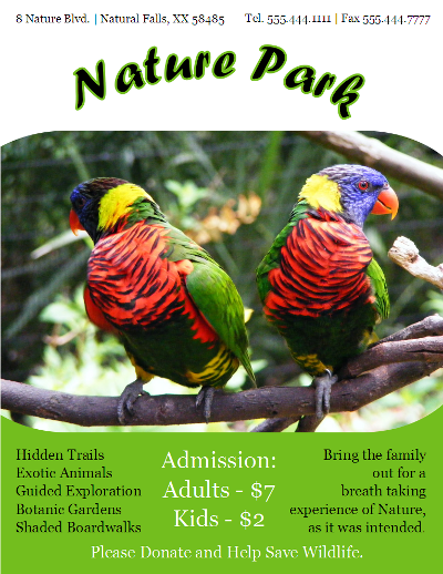 Nature Park Flyer Template