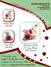 New Products Teddy Bear Flyer Template